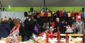 la chorale au marché de Noël de St Avé